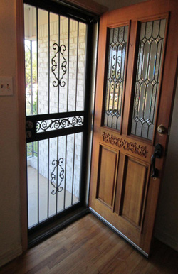wrought iron security door