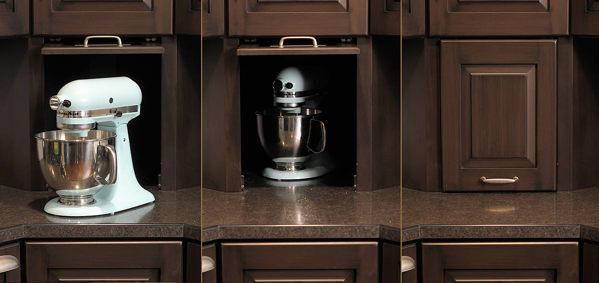 9 kitchen features that will increase your home s appeal for Appliance garage kitchen cabinets