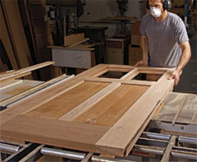Woodworking doors entry door plans door construction for Solid wood door construction