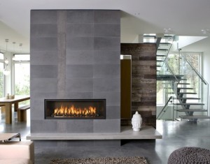Stone Tiles Are Less Rustic Than Stacked And Offer A More Modern Feel Slate Fireplace