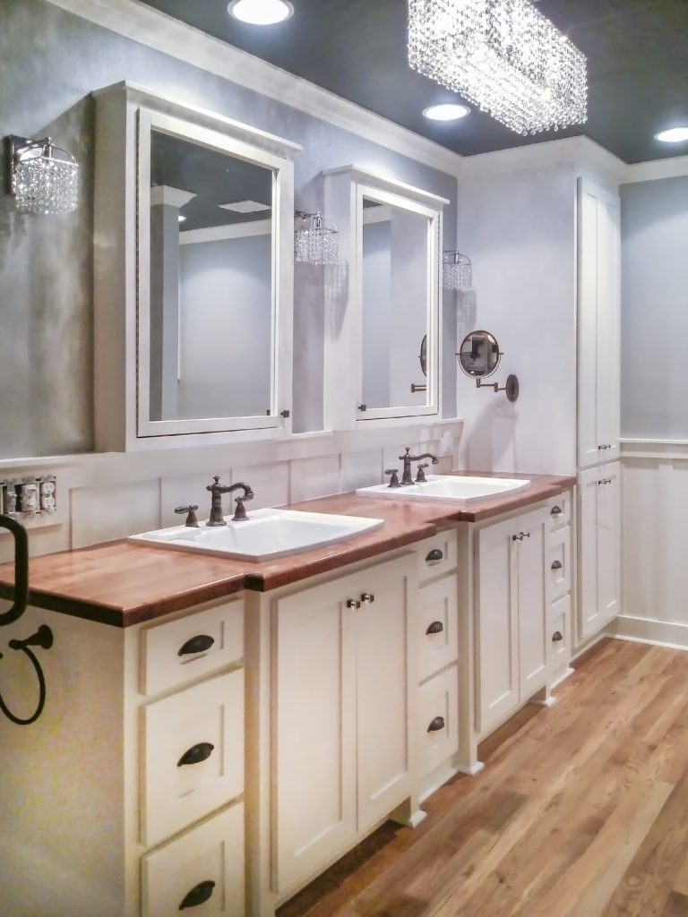 Country Home Master Bathroom, With BLING! - Medford Remodeling