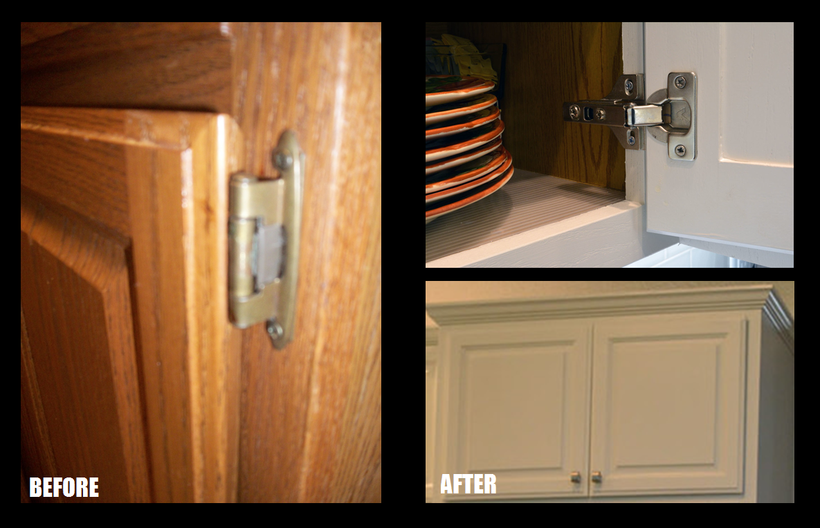 fresh paint new floors and a remodeled kitchen revive a 23 year the existing cabinets had exposed hinges we replaced this dated feature with european hidden hinges these hinges are placed inside the cabinets