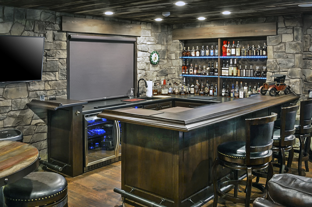 Garage To Ultimate Pub Conversion Medford Design Build