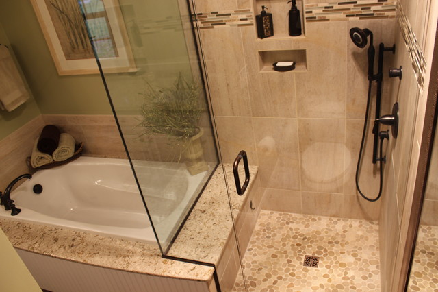 Bathroom Remodel Without Tub is it ok to remove your master bathtub? - medford remodeling