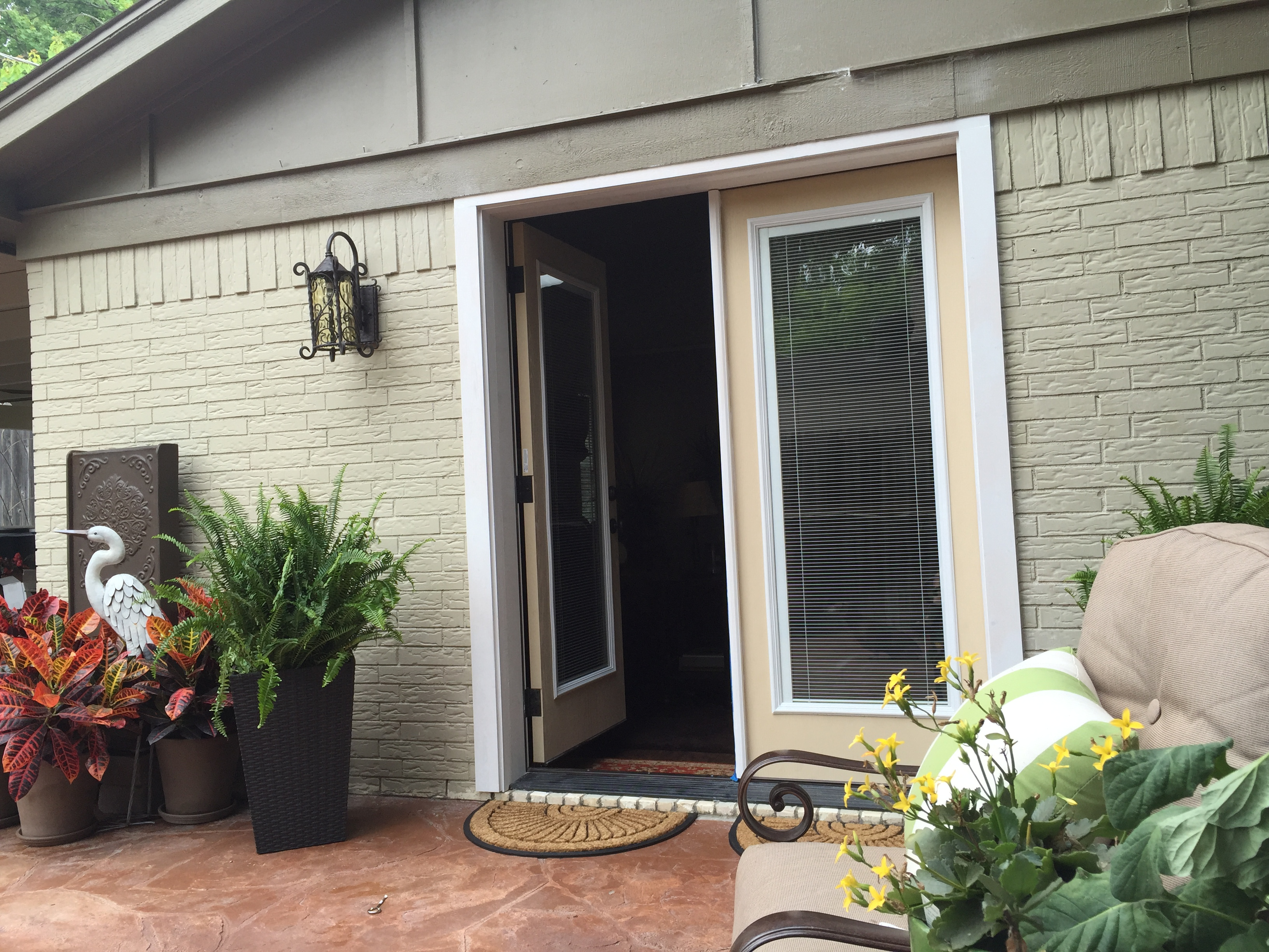 Patio door installation transforms an outdoor space for Outdoor patio doors