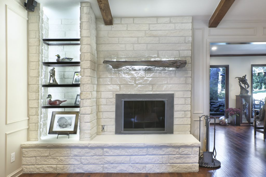 A Rustic Fireplace Gets an Elegant New Look