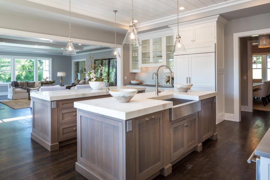 double kitchen islands a kitchen designed for entertaining 6 tips medford 11508