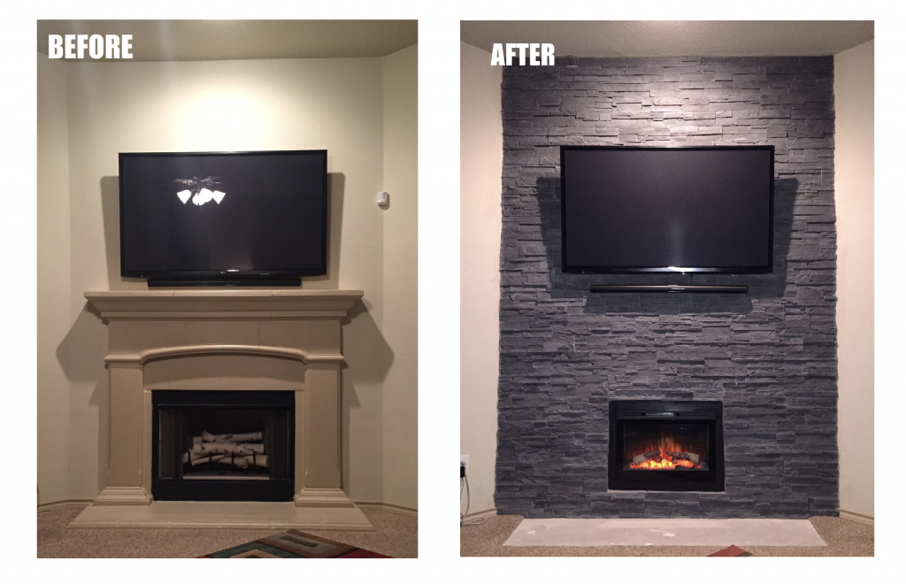 Medford remodeling your one stop shop for fireplace for Fireplace renovations before and after