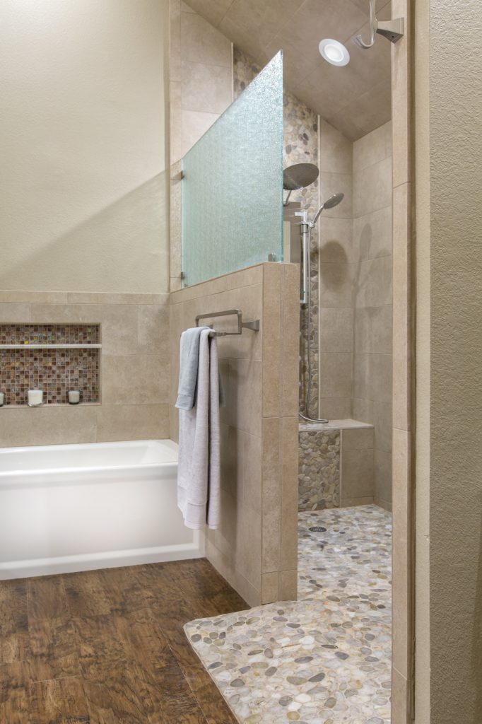 Dated Master Bathroom Gets a Spa-Like Upgrade