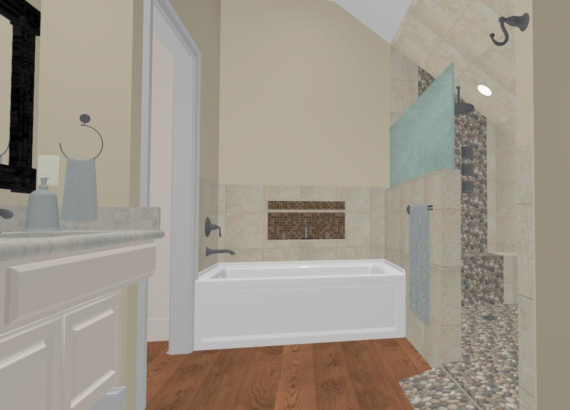 Dated master bathroom gets a spa like upgrade medford for Toilet room in master bath