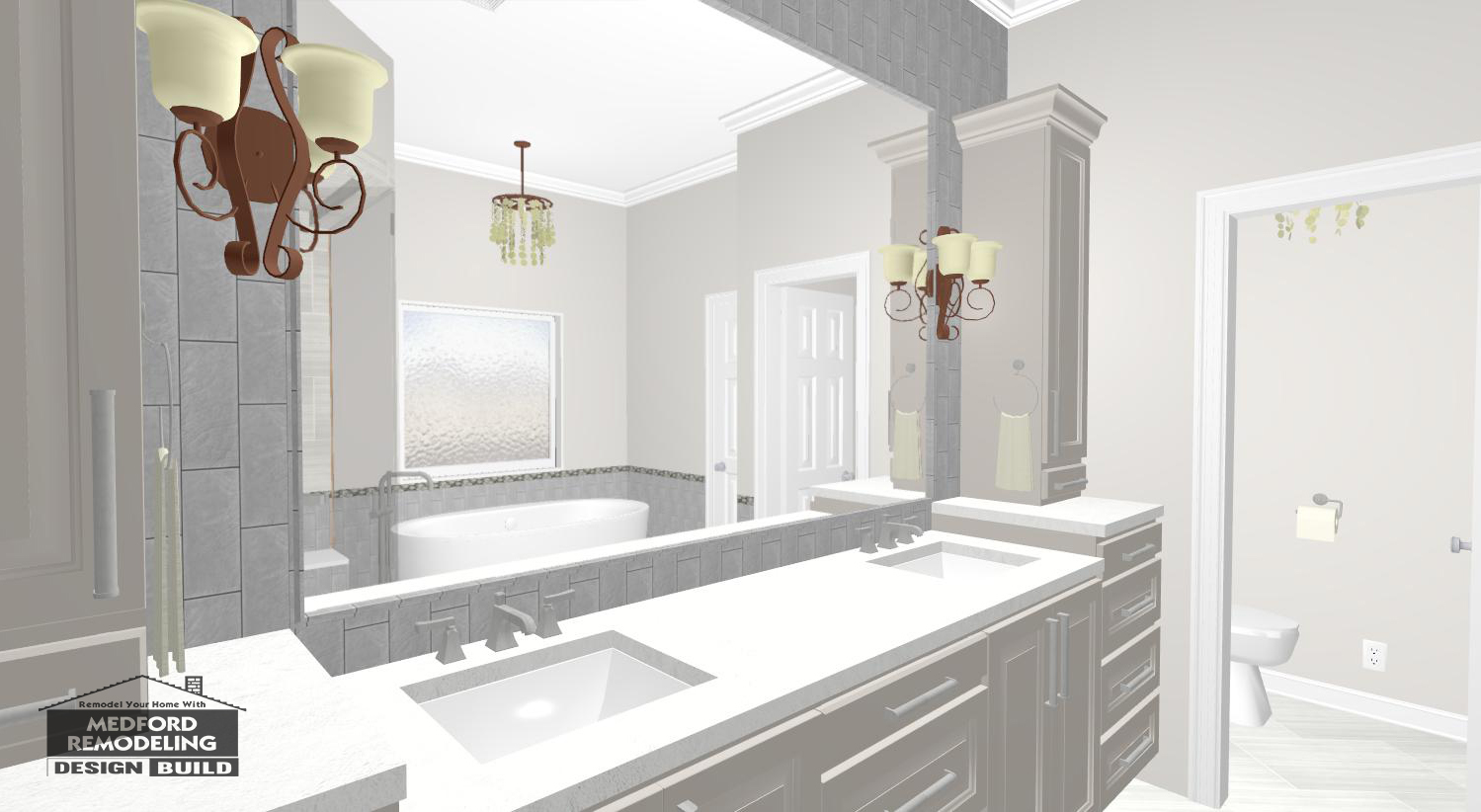 Our Projects: A Glamorous Master Bathroom Renovation