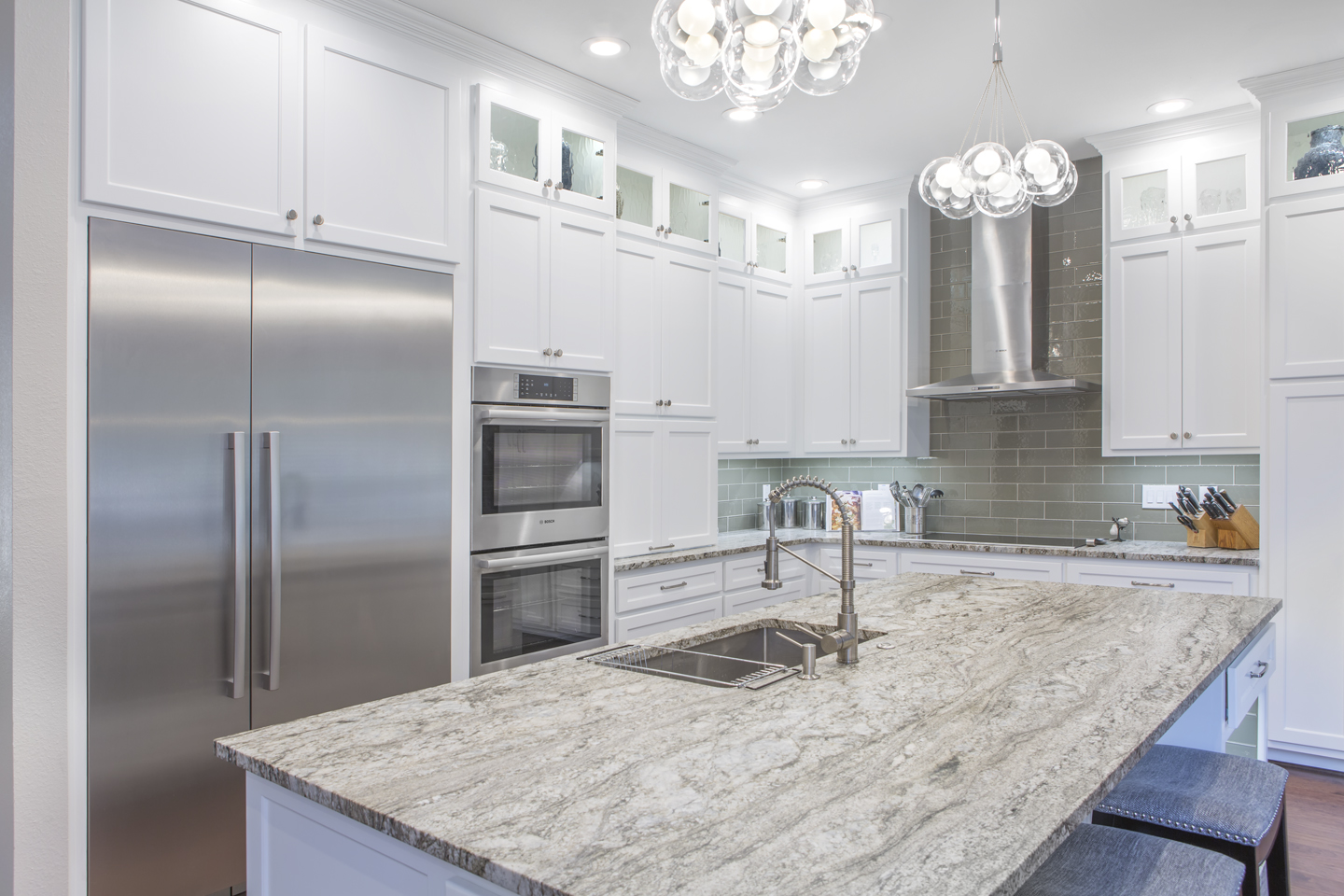 Stunning remodeled kitchen with island