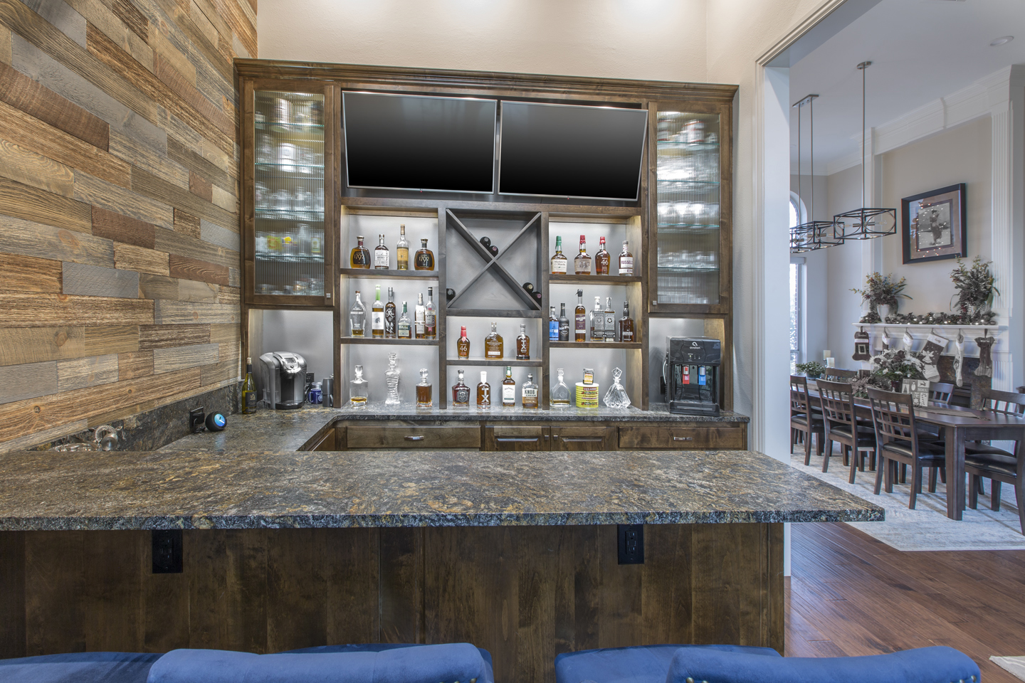 Once A Formal Dining Room Now A Custom Home Bar Medford Design Build