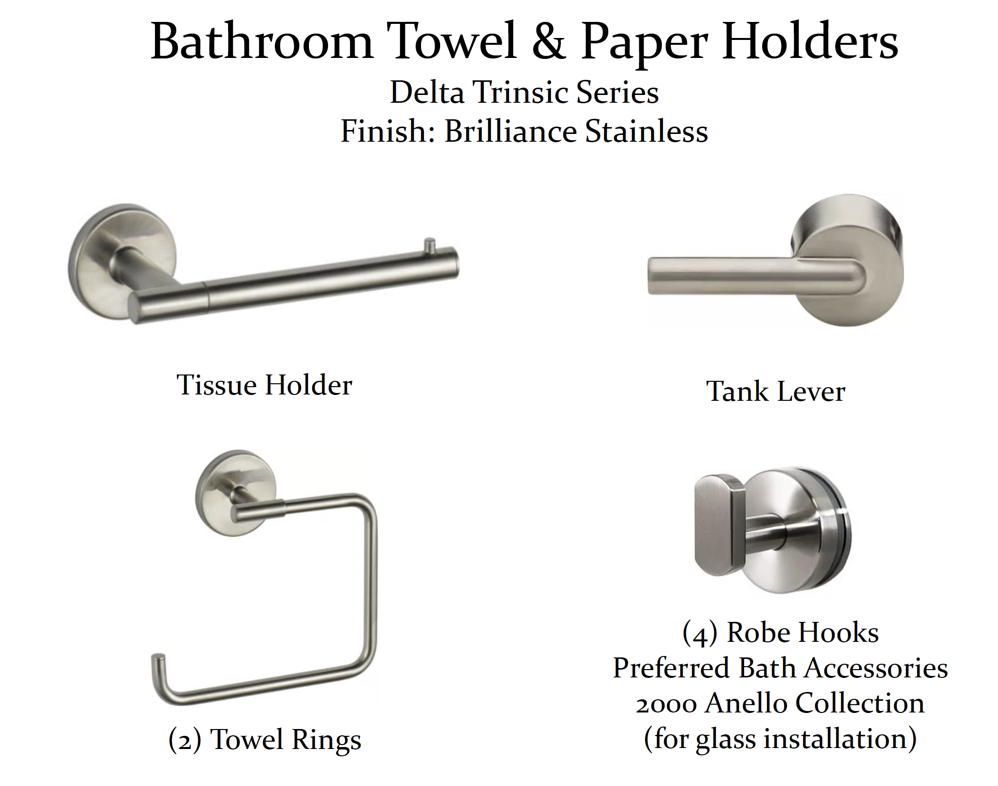 Master Bathroom Remodel - Selection Items