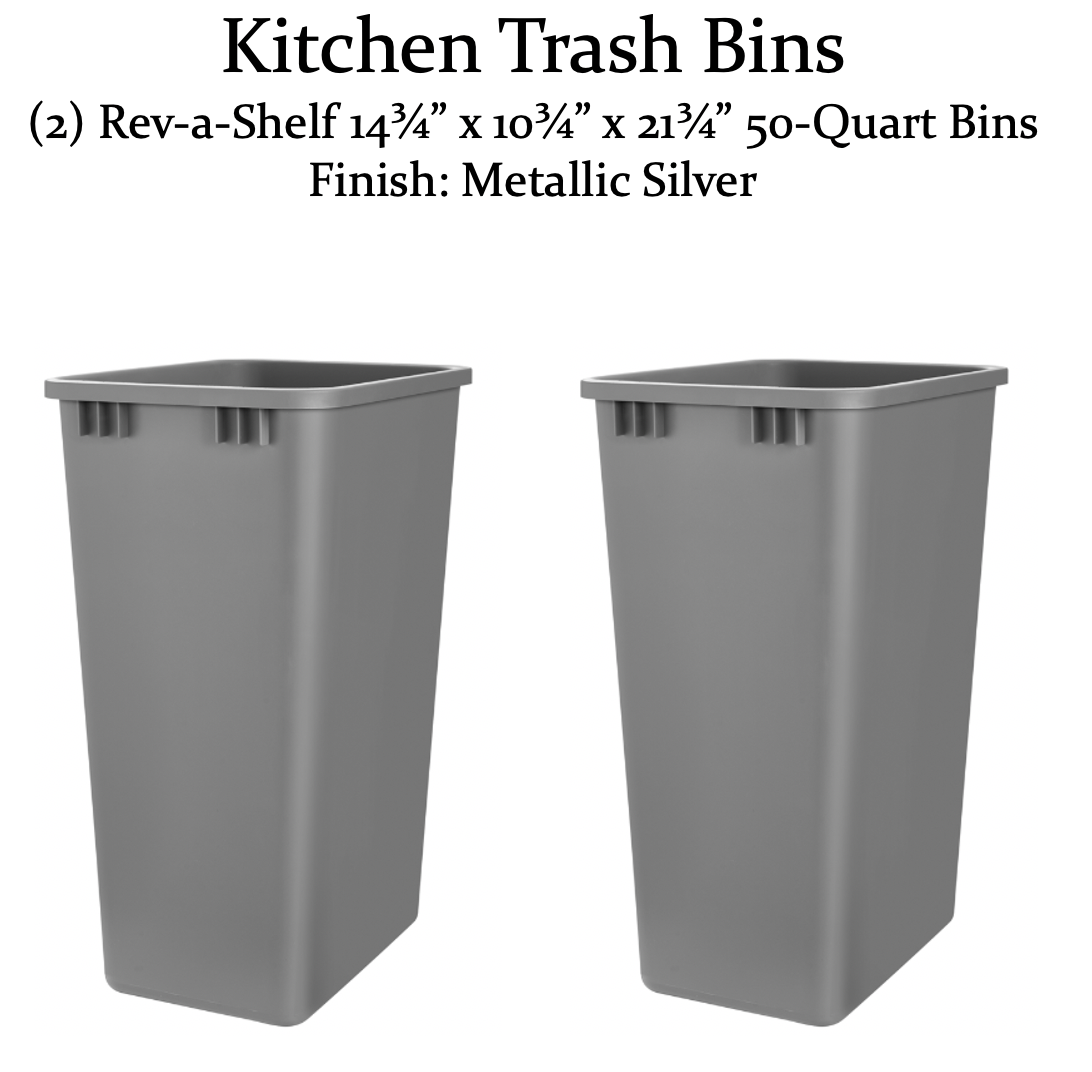 kitchen trash bins
