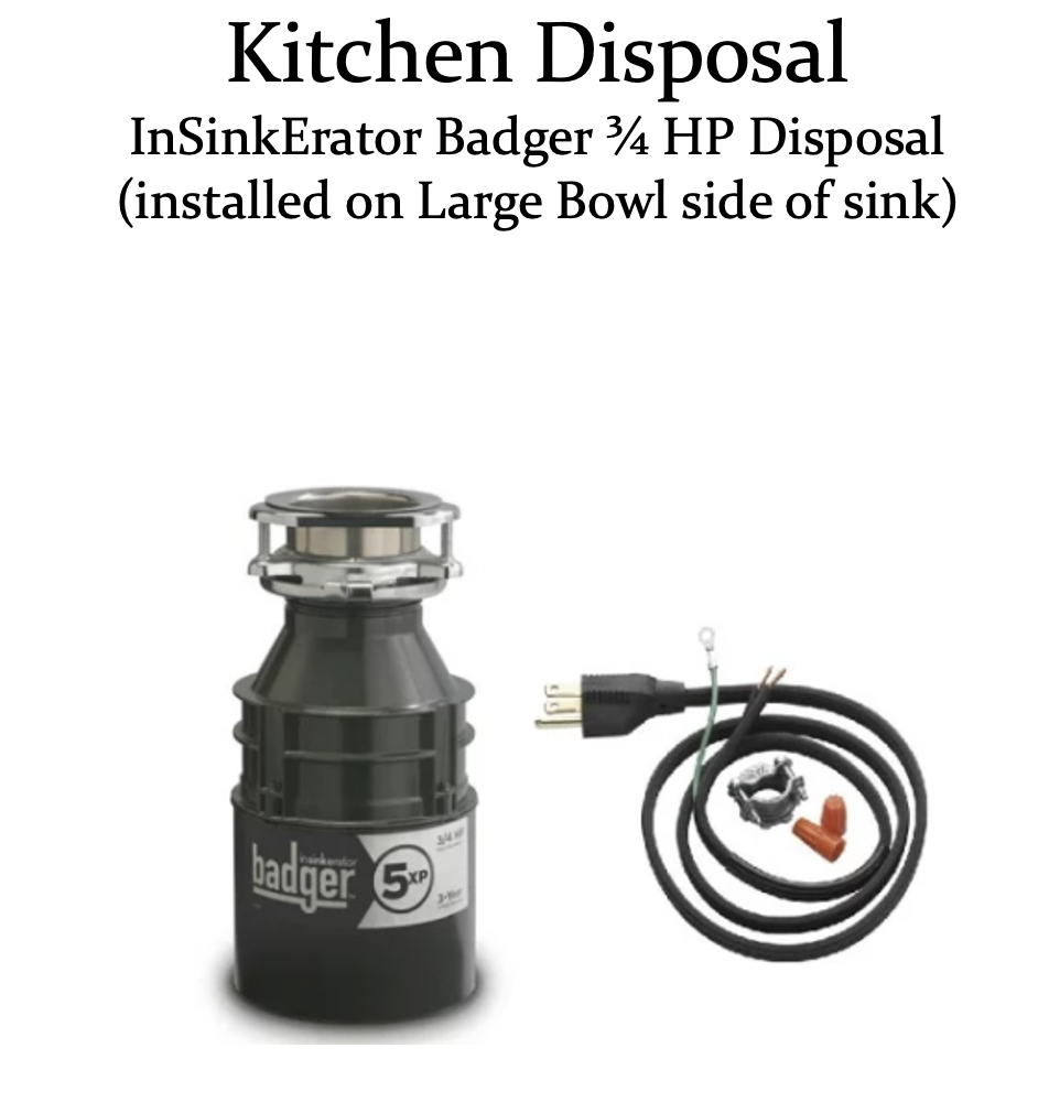 kitchen disposal