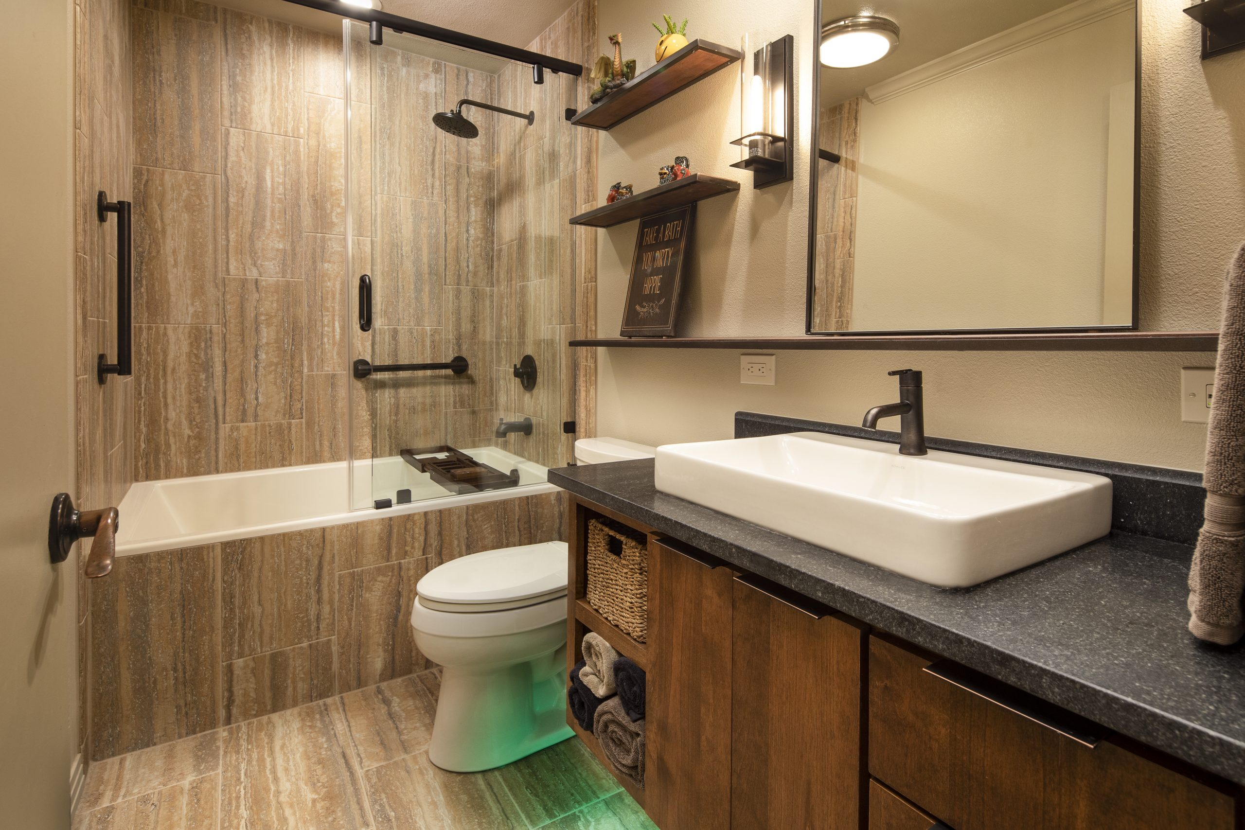 A Nature-Inspired Guest Bathroom Renovation