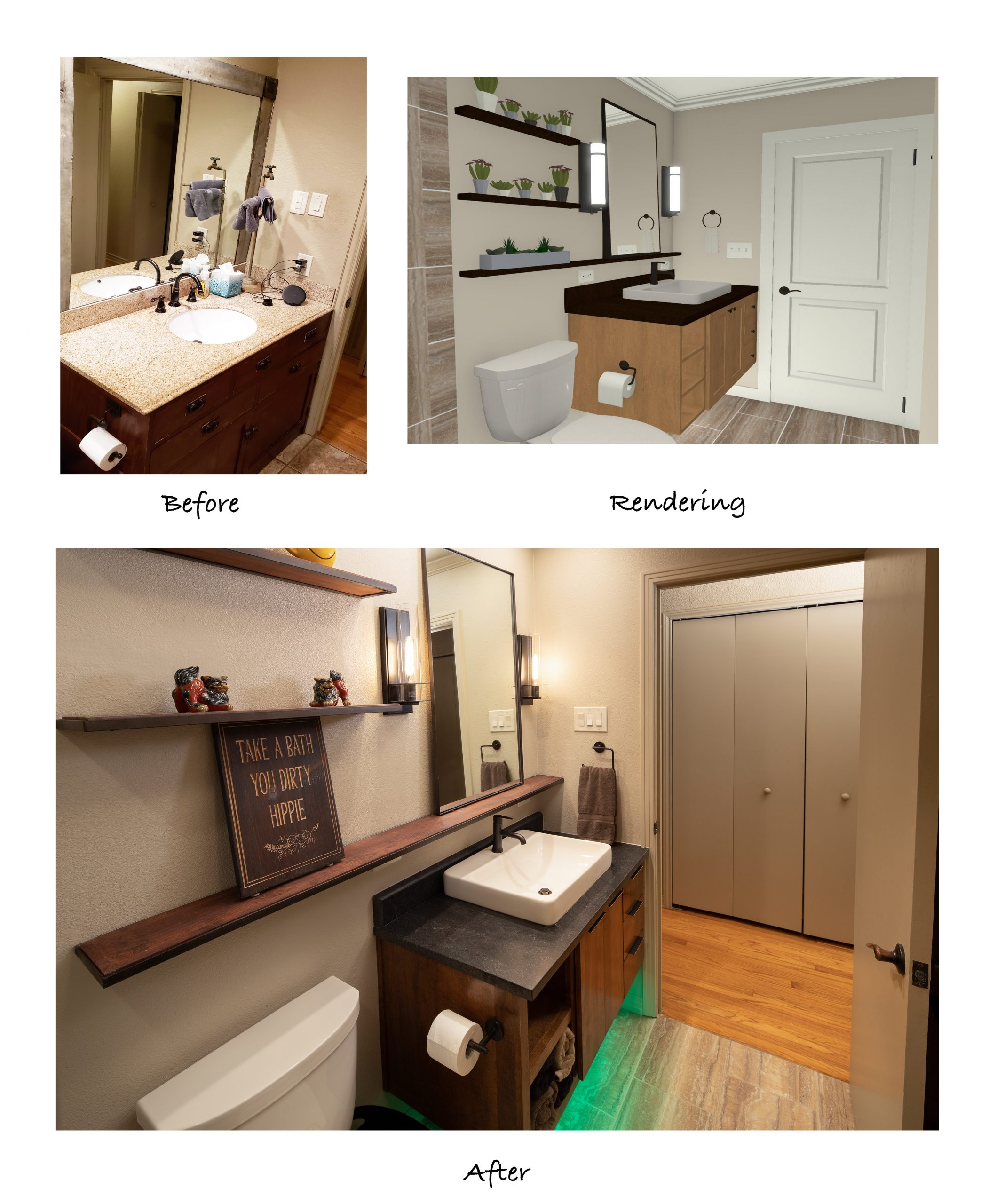 A Nature-Inspired Guest Bathroom Renovation - BEFORE AND AFTER