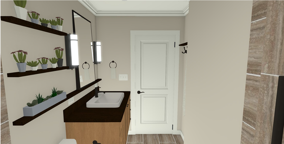 A Nature-Inspired Guest Bathroom Renovation - RENDERING