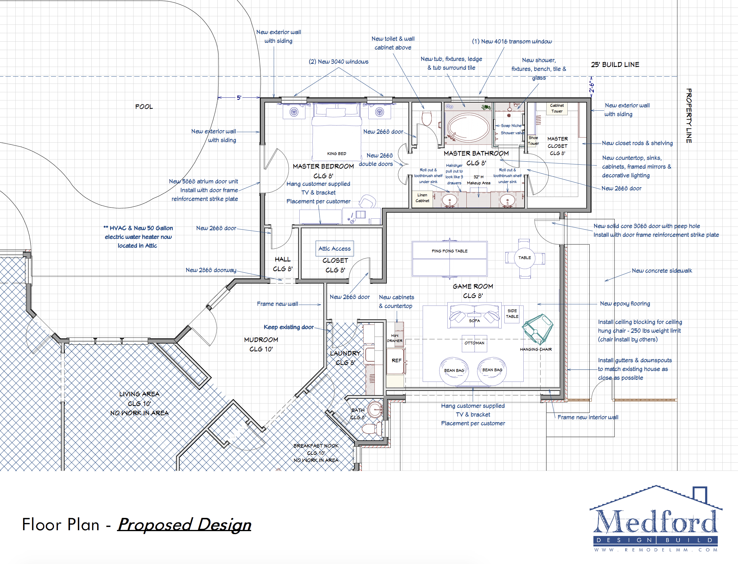 master suite addition - floor plans